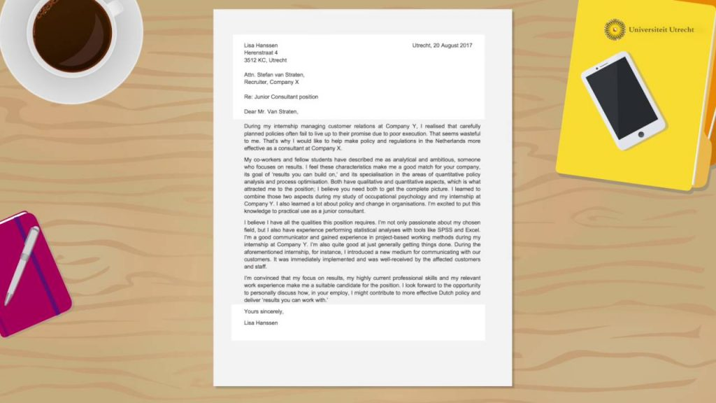 How to Write a Strong Cover Letter